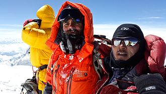 Kuntal Joisher - Kuntal Joisher, and Mingma Tenji Sherpa on summit of Mt. Everest on May 19th, 2016