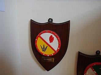 LÉ Deirdre (P20) - LÉ Deirdre badge, National Maritime Museum