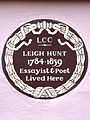 LEIGH HUNT 1784-1859 Essayist & Poet Lived Here.jpg