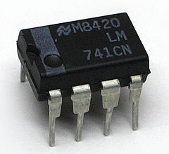 An op-amp in a mini DIP package LM741CN.jpg