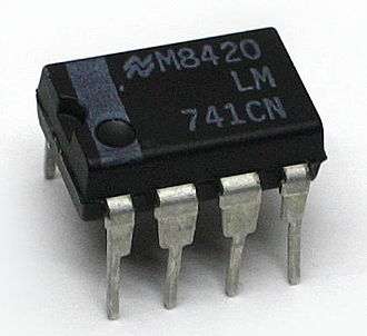 Operational amplifier - An op-amp in a mini DIP package