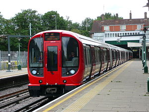 S8 Stock on the Metropolitan line, at Croxley