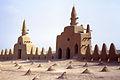 La Grande mosquée, Djenné, Mali. Le toit et ses évents d'aération. Date du cliché 1972-12-27.jpg