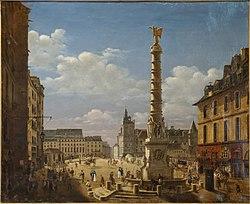 La Place du Châtelet by Étienne Bouhot (1810)