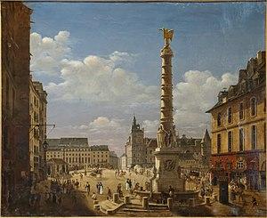 Place du Châtelet - La Place du Châtelet by Étienne Bouhot (1810)