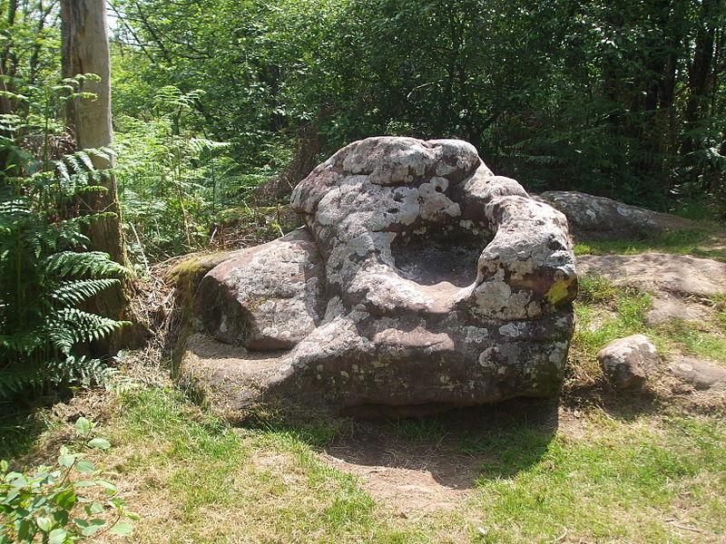 Rock formation called the devil's chair, near the village of La Châtie, Collonges la Rouge, France.