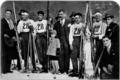 La squadra di Bormio vincitrice della Valligiani nel febbraio 1929. Da sinistra Colturi, Sertorelli, Alberti, Confortola.png