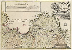 Ladoga Canal - Map of the canal, 1742