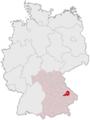 Lage des Landkreises Straubing-Bogen in Deutschland.png