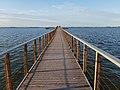 Lago di Lesina - Pontile verso L'Isolotto di San Clemente.jpg