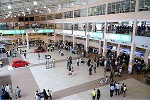Murtala Muhammed International Airport - Ticketing Hall in Domestic Terminal.