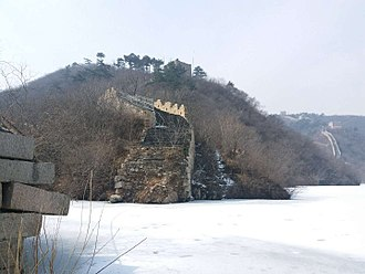 Huairou District - Submerged part of the Great Wall