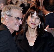 Sophie Marceau e l'ex compagno Christophe Lambert nel 2012
