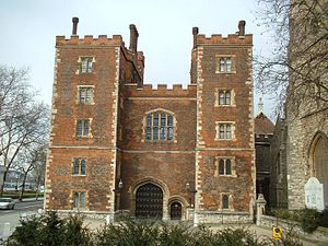 Lambeth Road - Lambeth Palace's gatehouse on Lambeth Road.