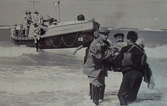 RNLB Manchester Unity of Oddfellows (ON 960) - The Lifeboat lands an injured crewman from the Lucy