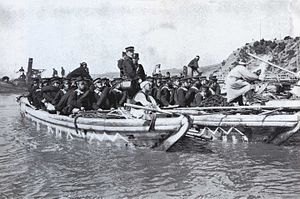 Battle of Yalu River (1904) - Japanese troops landing on Nampo