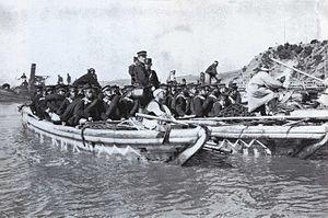 Battle of Yalu River (1904) - Japanese troops landing on Nampo