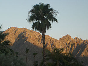 La Quinta, California - The Santa Rosa Mountains at dusk.