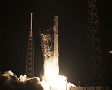 launch of the falcon 9 rocket carrying crs 5