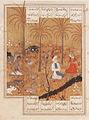 Layla Vistits Majnun in the Palm Grove; Page from a Khamsa of Nizami LACMA M.73.5.578.jpg