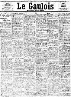 <i>Le Gaulois</i> French daily newspaper (1868–1929)