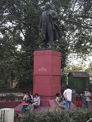 Communism - Vladimir Lenin's statue in Kolkata, West Bengal