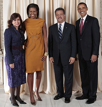 Leonel Fernandez Reyna with Obamas adjusted