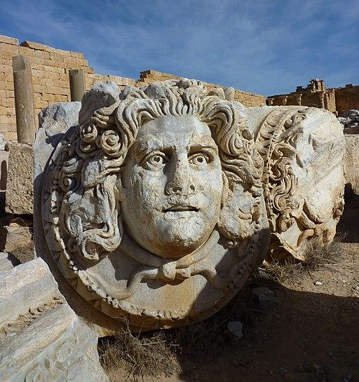 Leptis Magna - Fragment Kopf