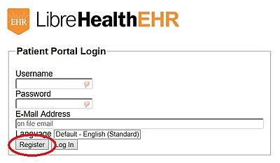 LibreHealthEHR Login portal.jpg