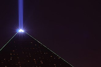 Luxor Las Vegas - The light of the Luxor low view