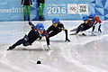 Lillehammer 2016 - Short track 1000m - Men Semifinals - Daeheon Hwang, Shaoang Liu, Kazuki Yoshinaga and Kyunghwan Hong 5.jpg