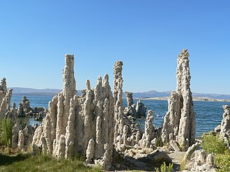 Mono Lake Tufa State Natural Reserve - Close-up of tufa columns