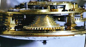 Fusee (horology) - Image: Lindquist Fusee Pocket Watch Movement