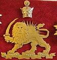 Lion and Sun and Pahlavi Crown - Sahebgharanie Palace - Niavaran Palace Complex.JPG