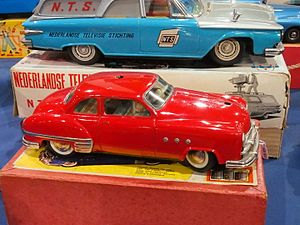 Model car on 1950s matchbox cars