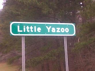 Little Yazoo, Mississippi - Image: Little Yazoo Highway Sign