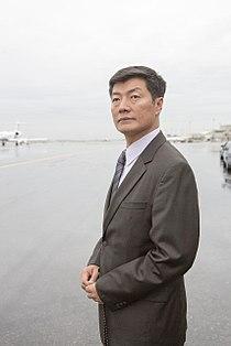 Lobsang Sangay, Tibetan Prime Minister, 2012 (Airport).jpg