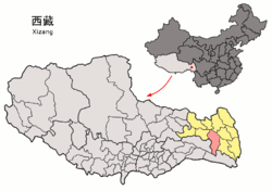 Location of Baxoi County within Tibet