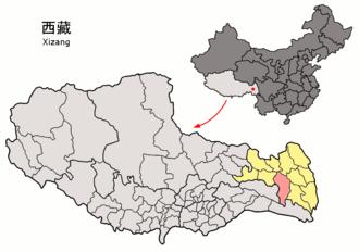 Baxoi County - Image: Location of Baxoi within Xizang (China)