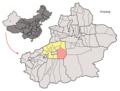 Location of Shayar within Xinjiang (China).png