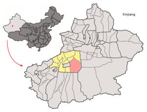 Xayar County - Image: Location of Shayar within Xinjiang (China)