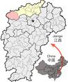 Location of Xiushui Jiujiang within Jiangxi.png