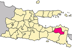 Location of Bondowoso in East Java