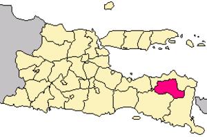 Bondowoso Regency - Image: Locator kabupaten bondowoso
