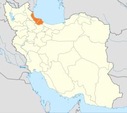 Мапа ірану з позначеною провінцією