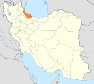 Persian Socialist Soviet Republic - Location of Gilan, where the Persian SSR was declared, in Iran.