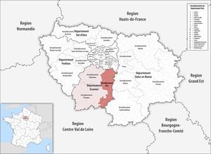Arrondissement of Évry - Image: Locator map of Arrondissement Évry