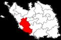 Locator map of the canton de Talmont-Saint-Hilaire (in Vendée).png