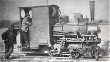 Photo d'une locomotive de petite taille.