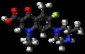 Lomefloxacin molecule ball.png